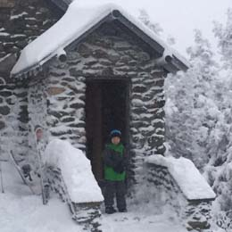 stone hut on mount mansfield