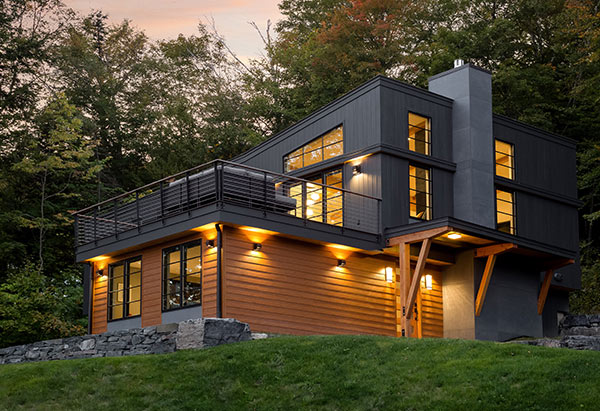 Mid Century Ski Chalet Makeover - Vermont Residential Architecture