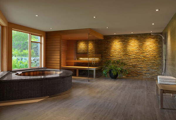Home Spa Oasis Interior - Vermont Residential Architecture
