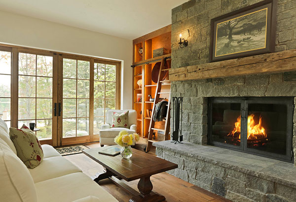 Traditional Scottish Stone Cottage Interior - Vermont Residential Architecture