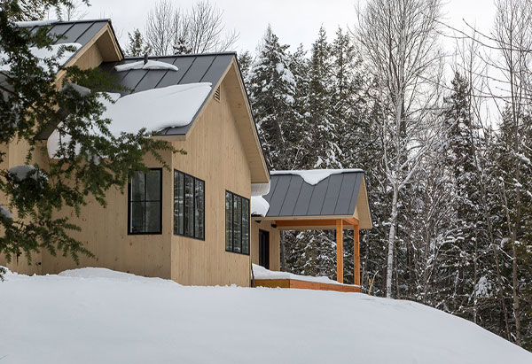 Compact Mountain Modern - New Construction - Vermont Residential Architecture