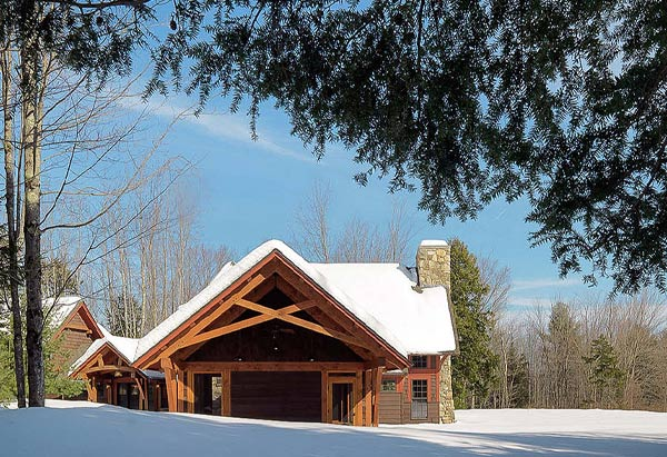 Timberfame Home For All Season Living New Construction - Vermont Residential Architecture