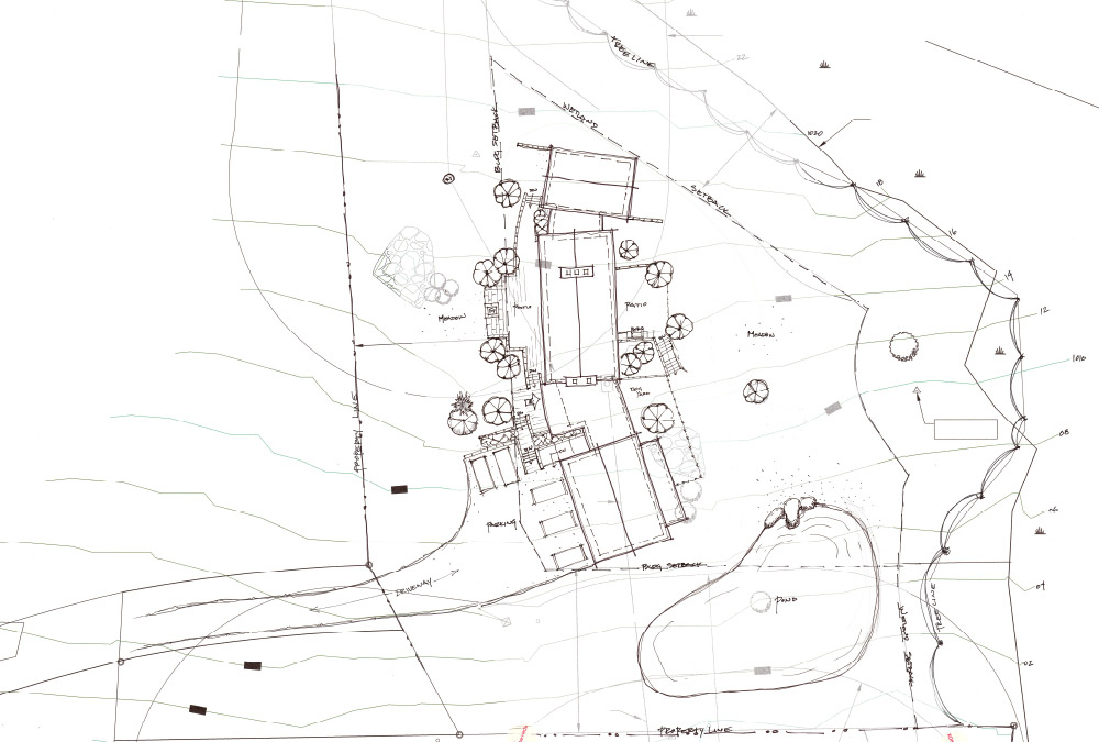 sketch of the site plan option 1