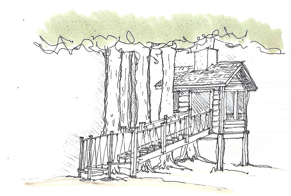 sketch of the treehouse