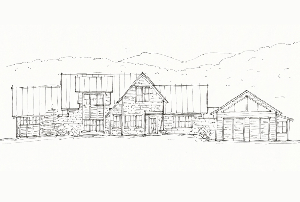 front elevation sketch