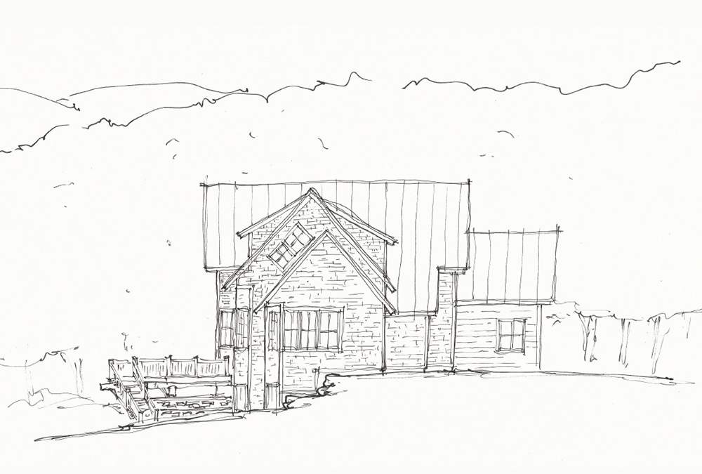 Picture of master elevation sketch