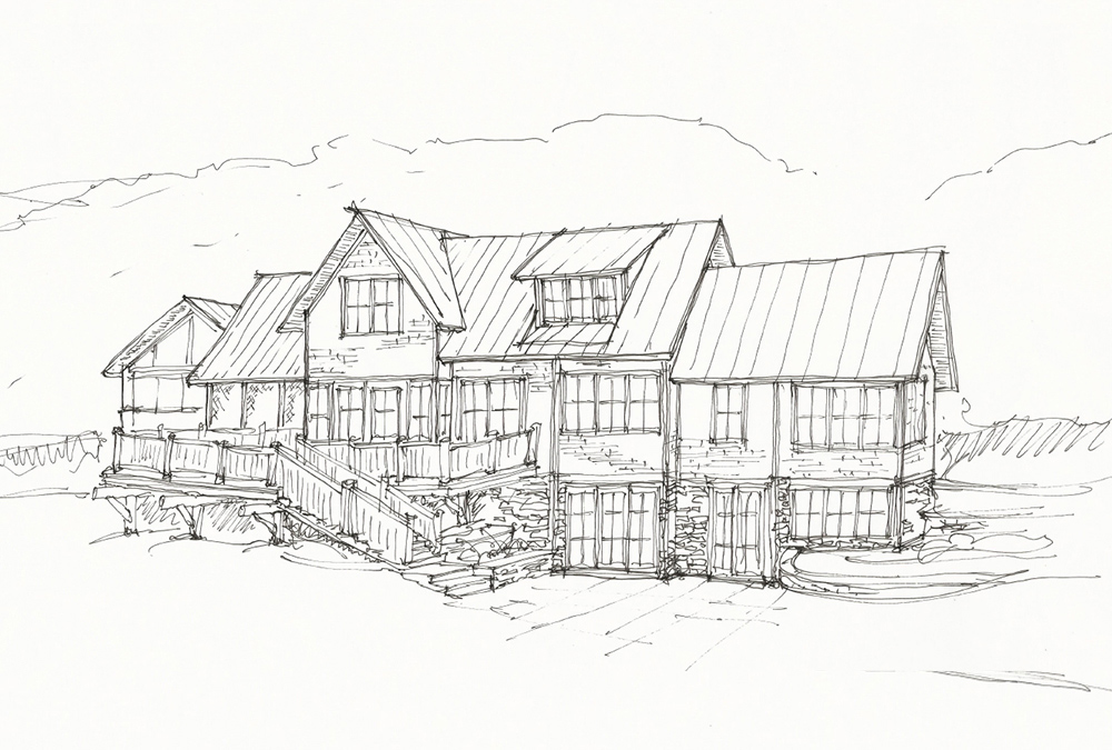 walkout elevation sketch