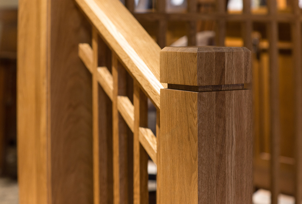 picture of stairway railing