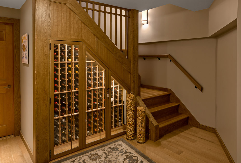 picture of stairs and wine cellar