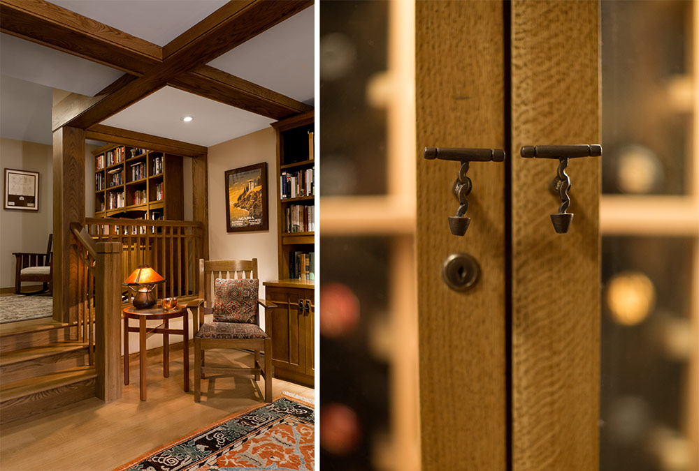 wine cellar handle details
