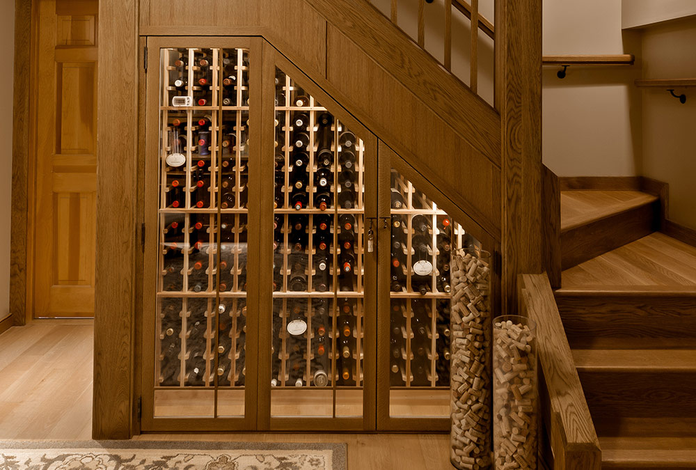 custom wooden wine cellars